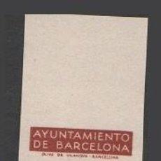 Sellos: 0008 AYUNTAMIENTO DE BARCELONA - PRUEBAS DE COLOR DE LOS MARCOS DE LA SERIE NO EMITIDA DE LA EFIGIE. Lote 40738724