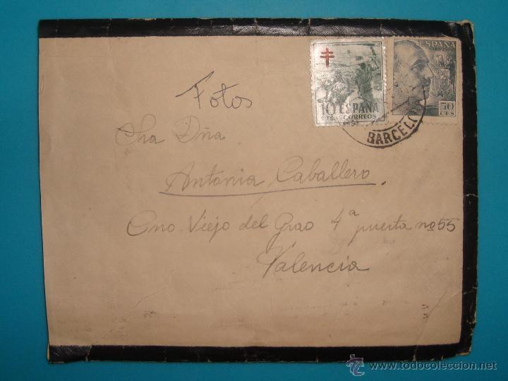 Sellos: LOTE DE 4 SOBRES Y 5 FRACCIONES CON SELLOS DE ESPAÑA DE 1922 A 1954 - Foto 7 - 41015621