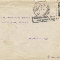 Sellos: CARTA - CENSURA MILITAR PONTEVEDRA MATASELLOS PONTEVEDRA FEB. 1940 . Lote 41231328