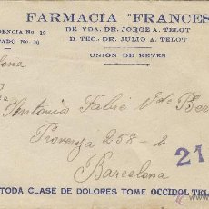 Sellos: CARTA COMERCIAL FARMACIA FRANCESA OCCIDOL TELOT CENSURA REPÚBLICA ESPAÑOLA VER DORSO .. Lote 52352883