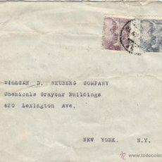Sellos: CARTA DOBLE CENSURA 1945 MAT. RODILLO ESTAFETA CAMBIO VER DORSO. Lote 41246940