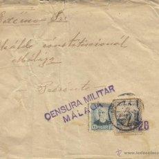 Sellos: CARTA CENSURA MILITAR MÁLAGA 1942 CON VIÑETA PRO MÁLAGA 5 CTS . Lote 41247241