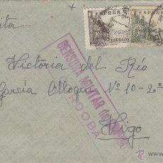 Sellos: CARTA 1938 CENSURA MILITAR DE CORREOS CORDOBA MAT CÓRDOBA . Lote 41270855