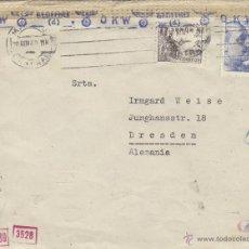 Sellos: CARTA DOBLE CENSURA GUBERNATIVA MADRID Y 1943 DESTINO ALEMANIA MAT. RODILLO . Lote 41279875