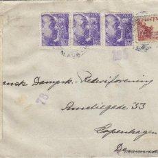 Sellos: CARTA CENSURA MILITAR MÁLAGA 1940 DESTINO DINAMARCA SIN LLEGADA . Lote 41279994