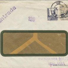 Sellos: CARTA CENSURA MILITAR MÁLAGA 1938 MARCAS ENTRADA 120 FRANQUEO ISABEL Y VIÑETA PRO MÁLAGA. Lote 41280128