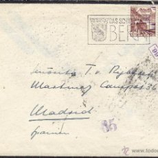 Sellos: CARTA LUTO DOBLE CENSURA GUBERNATIVA DE MADRID 1944 . DEST SUIZA - MADRID . Lote 41290498