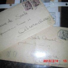 Sellos: JAIME SCALS ARACIL 2 CARTAS ENVIADAS A ALCORA 1944 POR SU ESPOSA. Lote 41397740