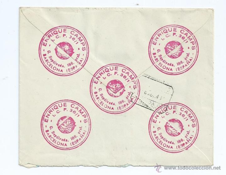 Sellos: AÑO 1948, CERTIFICADO DE BARCELONA A ARANDA DE DUERO CON LLEGADA Nº 1013,918 - Foto 2 - 42419251