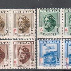 Sellos: SERIE COMPLETA EDIFIL 1040-1043, TIRAS DE TRES. 1948, PRO-TUBERCULOSOS. NUEVOS, CON FIJASELLOS. Lote 42573804