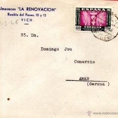 Sellos: . CARTA ALMACENES LA RENOVACION VICH. Lote 43655824