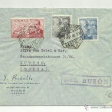 Selos: CIRCULADA 1946 DE MADRID A ZURICH SUIZA. Lote 44687271
