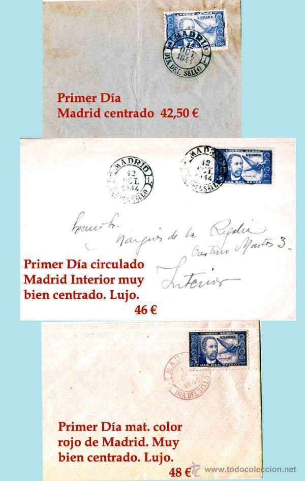 LOTE CON 3 CARTAS DR. THEBUSSEM, MAT. PRIMER DIA NEGRO,SIN CIRCULAR Y CIRCULADA Y MAT. ROJO. RARAS. (Sellos - España - Estado Español - De 1.936 a 1.949 - Cartas)