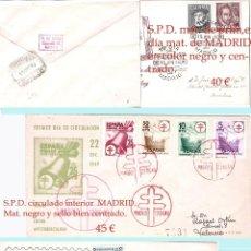 Sellos: AÑOS 1948- 49 Y 51. LOTE CON 3 CARTAS PRIMER DIA CIRCULADAS Y MATASELLOS EN REVERSO DE LLEGADA.. Lote 45101178