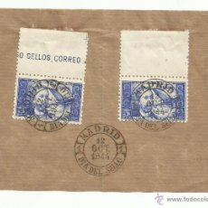Sellos: MATASELLO PRIMER DIA SOBRE FRONTAL MADRID 12 OCTUBRE 1944 DR THEBUSSEM...SUPONGO... DIA DEL SELLO. Lote 45703594