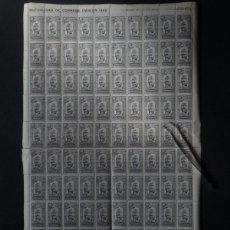 Sellos: PLIEGO BARCOS MUTUALIDAD DE CORREOS 1946 BENEFICIENCIA. Lote 142645370