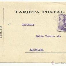 Sellos: TARJETA POSTAL CIRCULADA 1941 DE GERONA A BARCELONA . Lote 46107043
