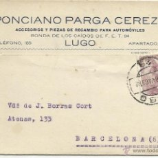 Sellos: TARJETA POSTAL CIRCULADA 1946 DE LUGO A BARCELONA . Lote 46107073