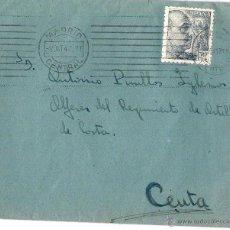 Sellos: MADRID - CEUTA.17 DE OCTUBRE DE 1947.SOBRE, CARTA Y NORMAS DEL I CAMPTO. DE LA CENTURIA FCO. PIZARRO. Lote 46286305