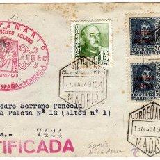 Sellos: MATASELLO IV CENTENARIO SAN FRANCISCO SOLANO - PRIMER VUELO ESPAÑA - VENEZUELA - 20-MAYO-1949. Lote 46381570