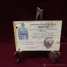 Sellos: TARJETA COMERCIAL 1939 - SEVILLA A VALENCIA. Lote 46591509