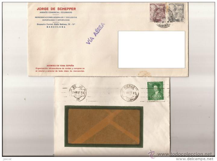 1948 SOBRES/CARTAS 2 SELLOS FRANCO 25 Y 1 PTA (Sellos - España - Estado Español - De 1.936 a 1.949 - Cartas)