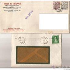 Sellos: 1948 SOBRES/CARTAS 2 SELLOS FRANCO 25 Y 1 PTA. Lote 46923453