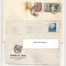 Sellos: 1948 SOBRES/CARTAS SELLOS FRANCO 25 CTS Y 1 PTA. Lote 46923454