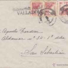 Sellos: CARTA - CENSURA MILITAR VALLADOLID DESTINO SAN SEBASTIAN / SIN LLEGADA . FRANQUEO 917. Lote 46984628
