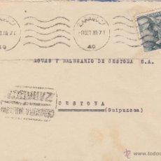 Sellos: CARTA CENSURA MILITAR ZARAGOZA DESTINO CESTONA / GUIPUZCOA 1939 . Lote 46985732