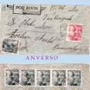 Sellos: 1944.-CERTIFICADO MULTICOLOR CON 8 SELLOS, CIRCULADO DE BARCO DE VALDEORRAS A BUENOS AIRES.POR AVION. Lote 38302393