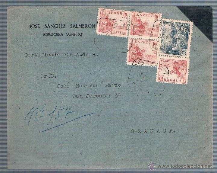 ABRUCENA (ALMERIA) (Sellos - España - Estado Español - De 1.936 a 1.949 - Cartas)