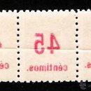 Sellos: 1938.- TIRA DE 3 SELLOS CON VARIEDAD DE SOBRECARGADA -CALCADA -EN REV..CATº EDIFIL Nº 742 HC + 100 €. Lote 47674678