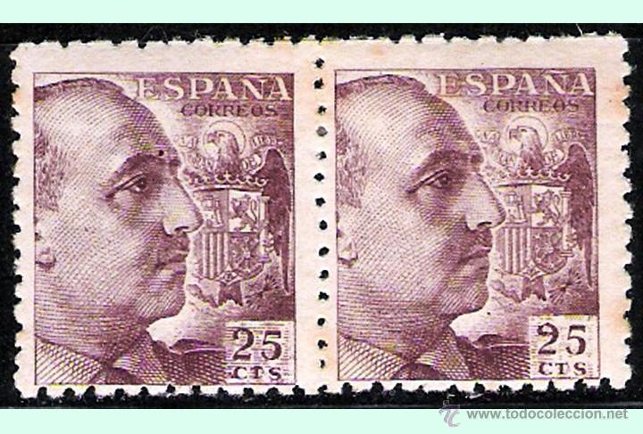 1939.- PAREJA NUEVA DEL 25 CTS. CON VARIEDAD DEL -2- DEL 25 CTS. -CERRADO- NO CATALOGADO. Nº 923 (Sellos - España - Estado Español - De 1.936 a 1.949 - Nuevos)