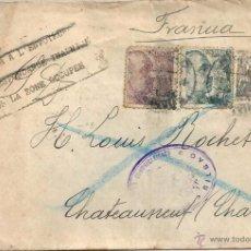 Sellos: 1941 - CARTA A FRANCIA - ZONA OCUPADA- MARCA RETOUR A L´ENVOYER CENSURA ALEMANA - RARA. Lote 48352330