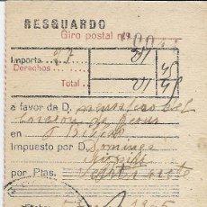 Sellos: GIRO POSTAL. MATASELLOS ELGOIBAR. 5 DE ENERO DE 1945.. Lote 48644373