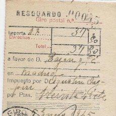 Sellos: GIRO POSTAL 2. MATASELLOS ELGOIBAR. 5 DE ENERO DE 1945. . Lote 48644386