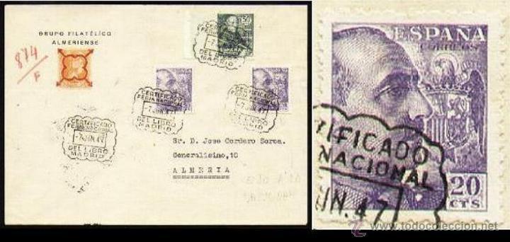 FERIA NACIONAL DEL LIBRO 1947 VARIEDAD 922 (Sellos - España - Estado Español - De 1.936 a 1.949 - Cartas)