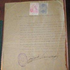 Sellos: 1941 PUIG (VALENCIA) 2 SELLO FISCAL LOCAL DE UNA PTA. TIMBRE MUNICIPAL CERTIFICADO DEL AYUNTAMIENTO. Lote 49532285
