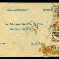 Sellos: * BONITA CARTA AÉREA CERT. 1941 CAJAMARCA (PERU)-HUESCA CENSURADA EN TRANSITO (11B N/C Y 20 VTA) *. Lote 49888398