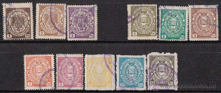 LOTE 11 FISCALES DISTINTOS COLEGIO NACIONAL DE REGISTRADORES DE LA PROPIEDAD (Sellos - España - Estado Español - De 1.936 a 1.949 - Usados)