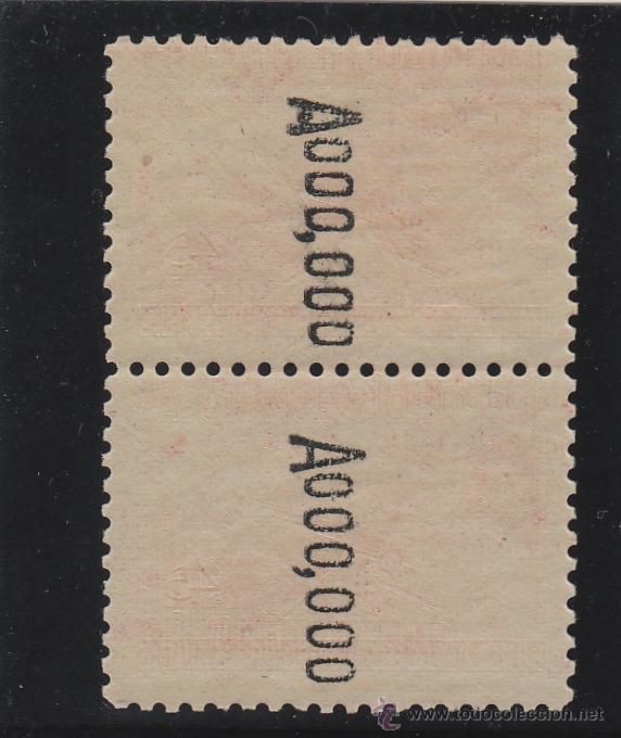 Sellos: ESPAÑA . nº Edifil 795 N (2) ** VARIEDAD A.000.000 AL REVERSO - milicias - 1938 NUEVO SIN SEÑAL . - Foto 2 - 50875775