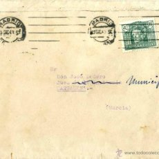 Sellos: MADRID.- CARTAGENA CARTA CIRCULADA AÑO 1943 . Lote 50954646