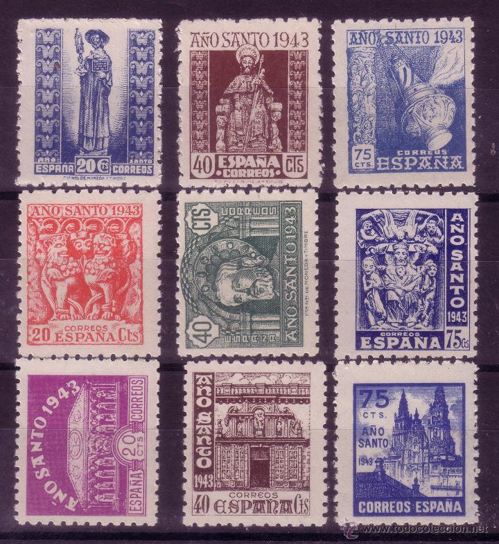 AA24- AÑO SANTO COMPOSTELANO 1943-44 NUEVOS ** SIN FIJASELLOS. PERFECTOS (Sellos - España - Estado Español - De 1.936 a 1.949 - Nuevos)
