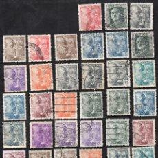 Sellos: 39 SELLOS USADOS DE FRANCO, DE LOS AÑOS 1948 A 1955.. Lote 52948522