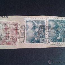 Sellos: EDIFIL 920 SIN DENTAR Y 925. MATASELLOS CERTIFICADO. MADRID 1939. RARO.. Lote 52961971