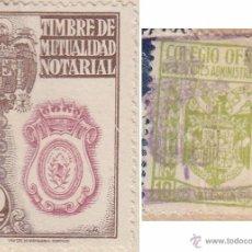 Sellos: 1941 VALENCIA SELLO TIMBRE MUTUALIDAD NOTARIAL 20 PTS PIE IMPRENTA VDA M NAVARRO MADRID EN ESCRITURA. Lote 53325073