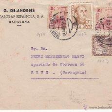 Sellos: SOBRE G. DE ANDREIS-METALGRAF ESPAÑOLA DE BADALONA . Lote 53334807