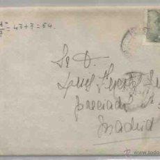 Sellos: SOBRE Y CARTA. PLASENCIA, CÁCERES. MADRID. 31 DE JULIO DE 1944.. Lote 53512501