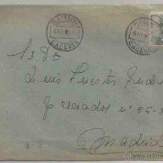 Sellos: SOBRE Y CARTA. PLASENCIA. MADRID. 5 DE AGOSTO DE 1951. Lote 53512605